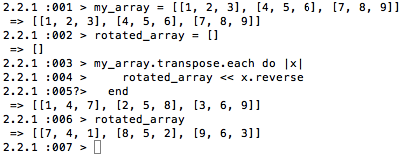 How to Rotate a Matrix in Ruby - Getting De-railed